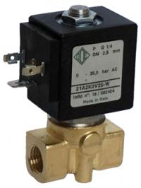 """Электромагнитный клапан 21A2K0V25-W (G1/4"""")"""